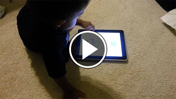 TJ using educational preschool apps