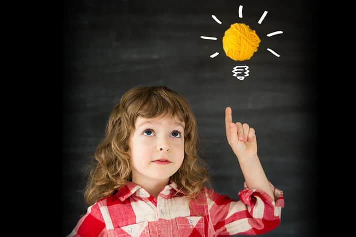 Child Getting a Bright Idea in Her Memory
