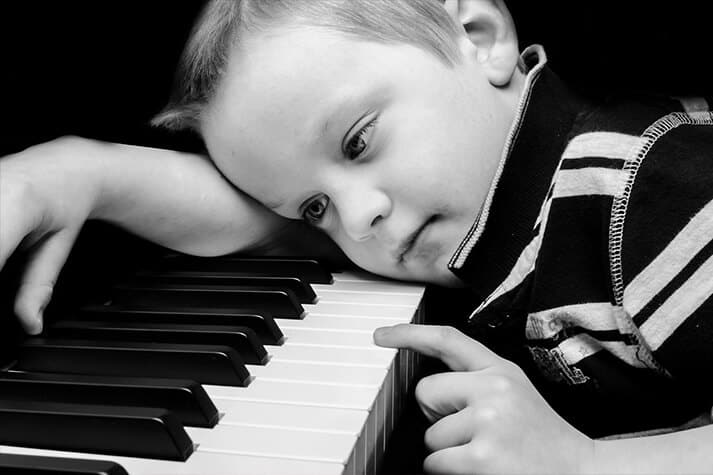 Kid Taking Music Lessons