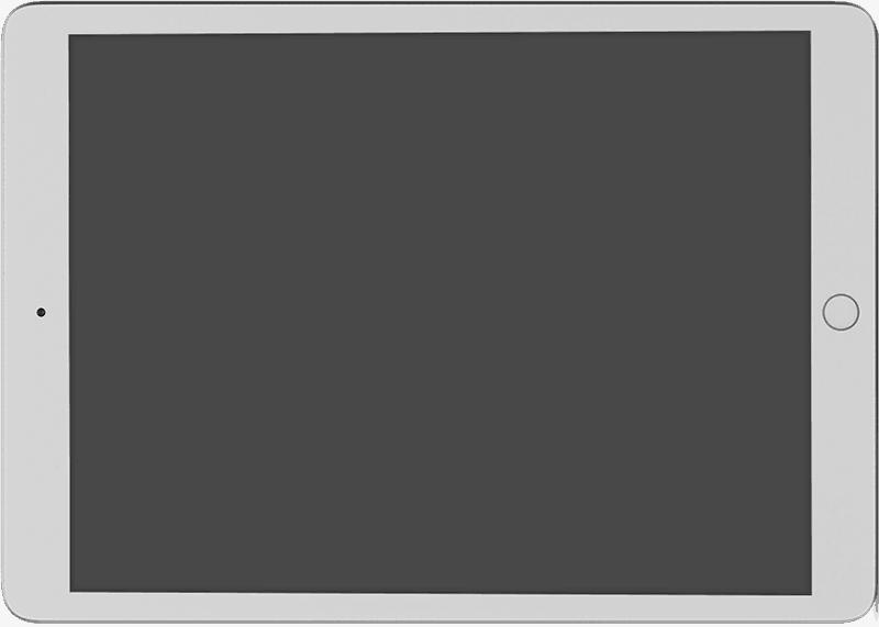 Blank iPad