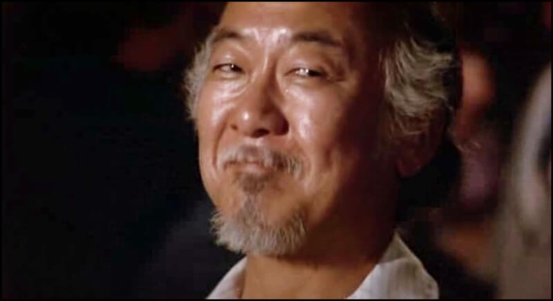 Mr. Miyagi Smiling At the End