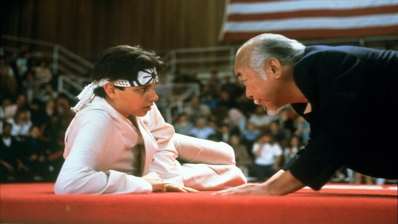 Mr. Miyagi Parenting Quote: Remember, best block no be there.