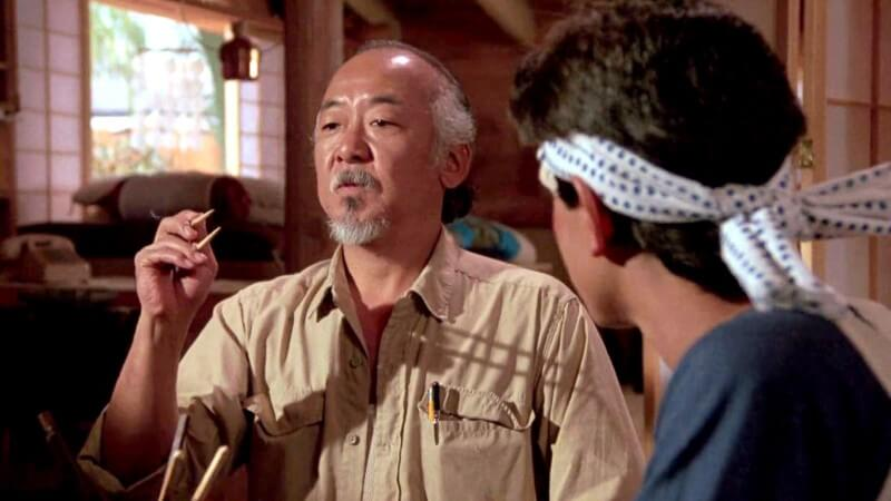 Mr. Miyagi Parenting Quote: You stay focused.